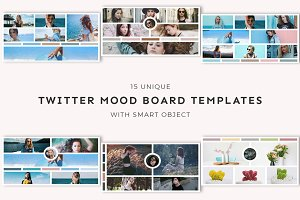 15 Twitter Mood Board Templates