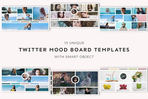 Twitter Templates: Creativetacos - 15 Twitter Mood Board Templates
