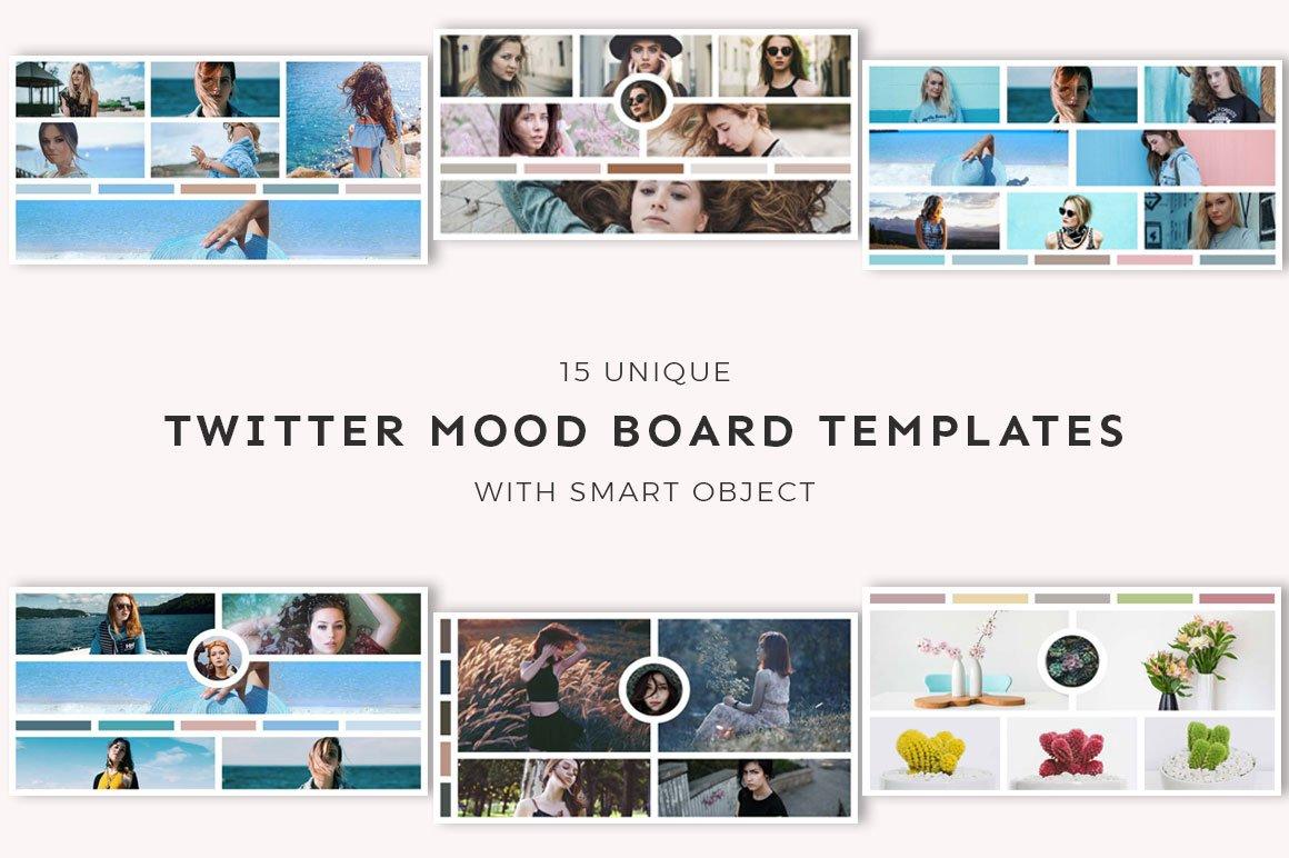 15 Twitter Mood Board Templates