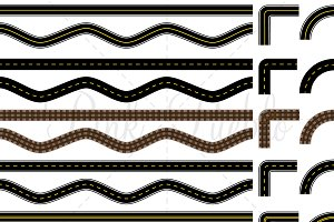 Road and Track Clipart & Vectors