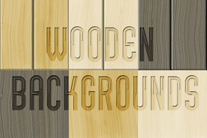 Wooden backgrounds pack
