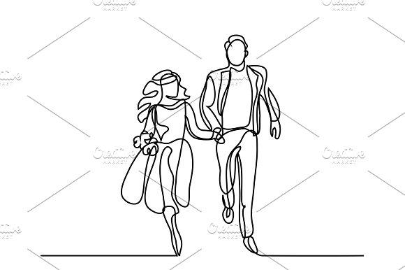 Happy Running Couple