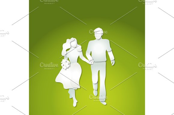Couple Man And Woman With Flowers Walking