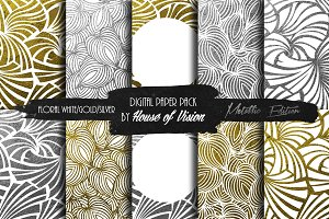 Floral Wht Silver/Gold Pack