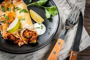 Spicy beef enchiladas