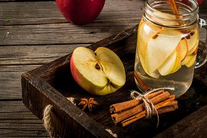 Detox water with apple