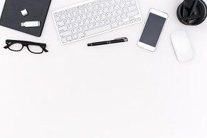 simple office desk header