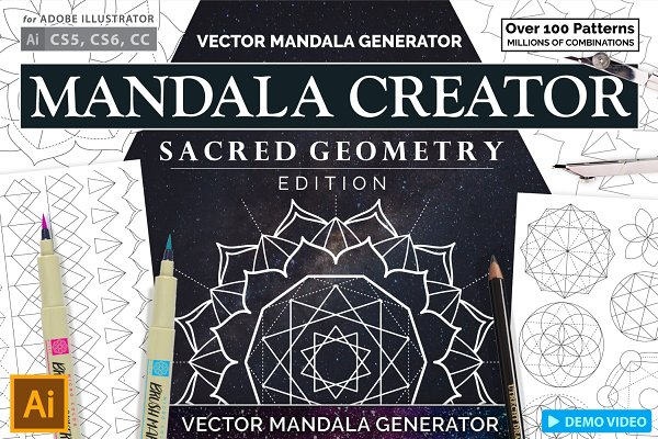 Sacred geometry logo Photos, Graphics, Fonts, Themes