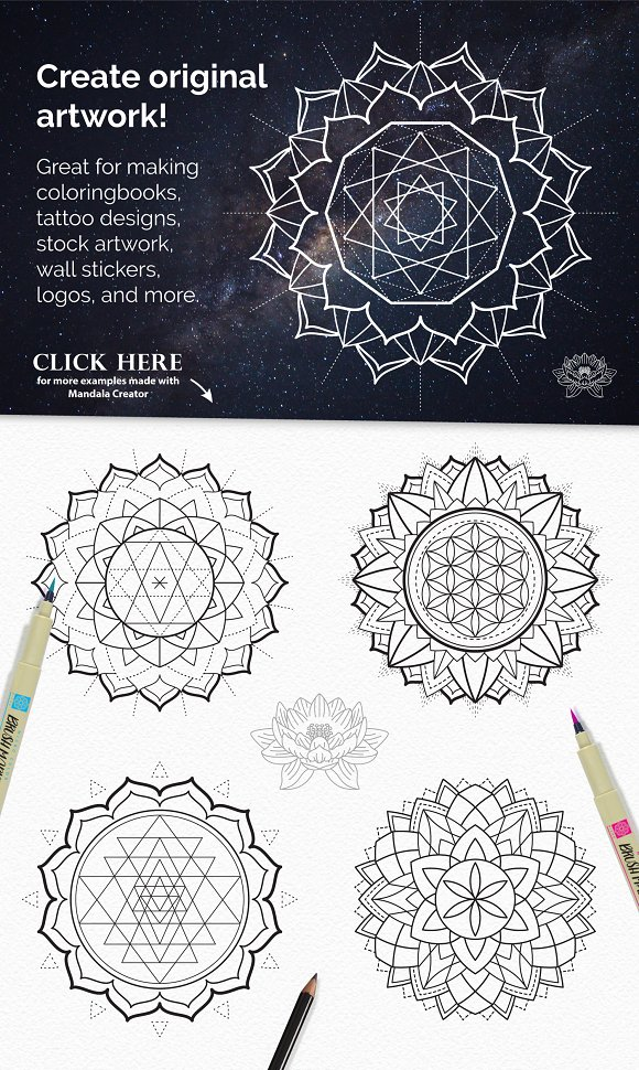 Sacred Geometry Mandala Creator Plug Ins Creative Market