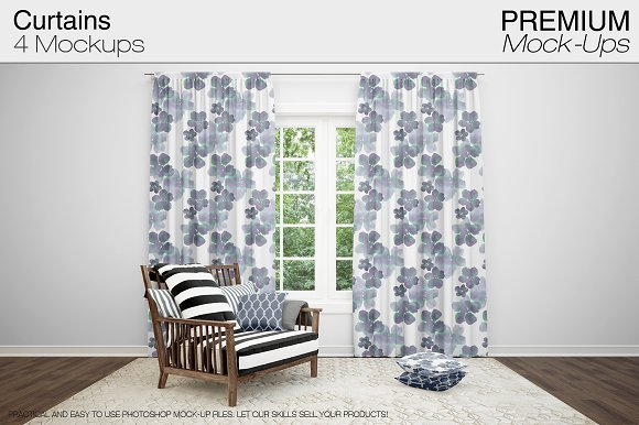 Curtains Mockup