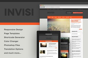 Invisi - News, Blog WP Theme