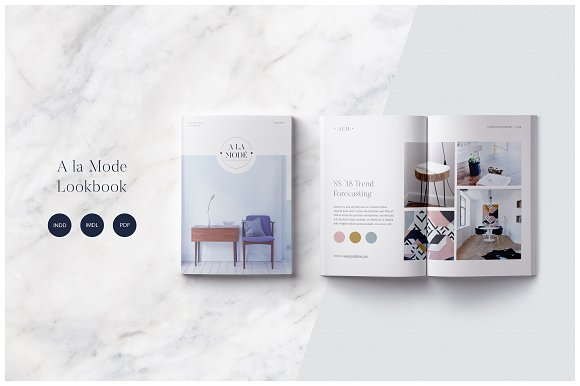A La Mode Magazine Brochure Template