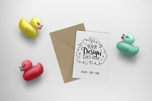 Greeting Card Kids Mockup