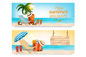 Vacation vector banners