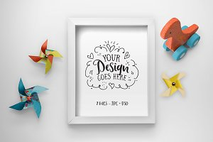 Pinwheels & Dinosaurs Frame Mockup
