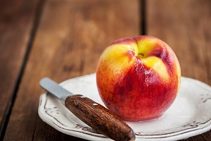 Fresh ripe wet peach