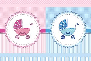 Label Vector Stroller, Boy, Girl