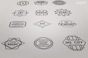 Geometric Vectors Badge like Logos