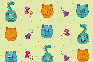 Pattern background kittens