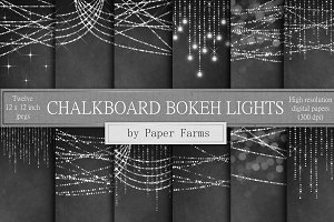 Chalkboard Bokeh Lights