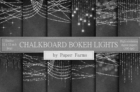 Chalkboard Bokeh Lights