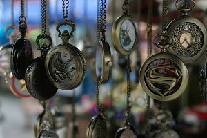timepieces hanging