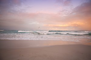 Pastel sunset at the beach