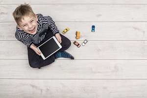 boy with tablet pc header