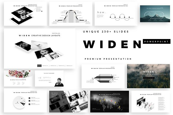 widen premium powerpoint template presentation templates