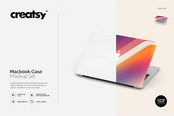 Macbook Case Mockup Set