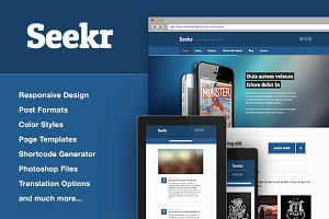 Seekr Responsive WordPress Theme