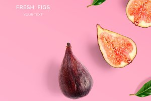 Figs on pink background