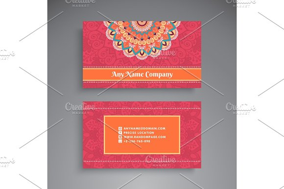 Business Card Vintage decorative elements Ornamental floral – Business Card Invitations