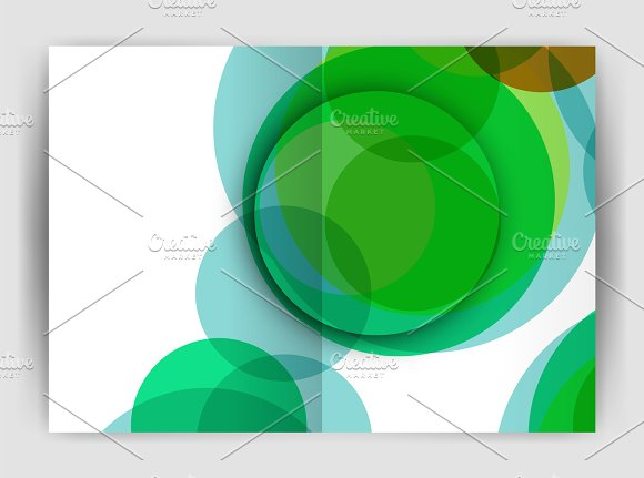 Abstract Circles Annual Report Covers Modern Business Brochure Templates