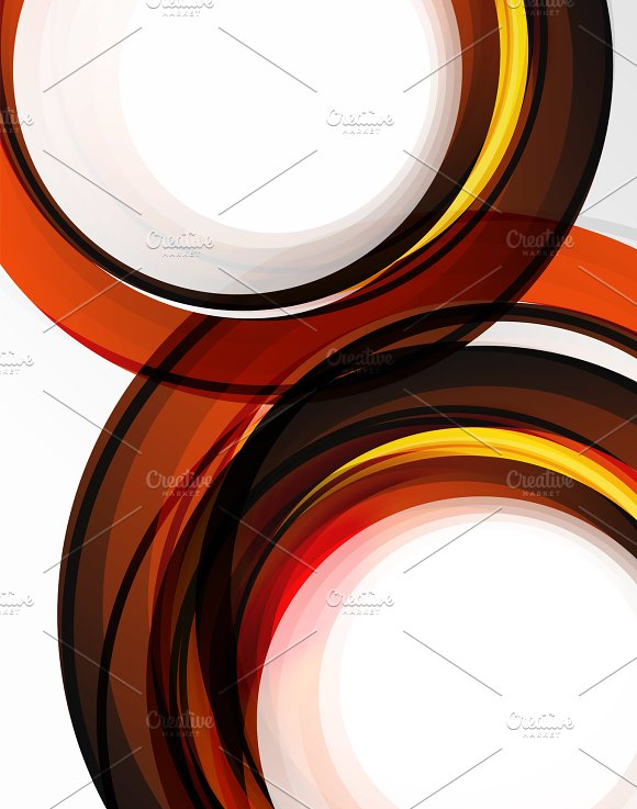 Swirl And Circles Futuristic Geometrical Abstract Background