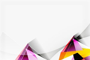 3d triangles and pyramids, abstract geometric