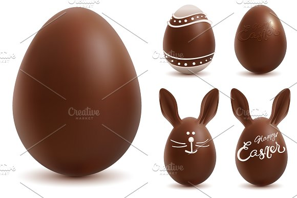 Set Chocolate Easter Egg