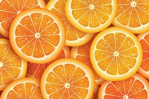 Orange slice background for summer.