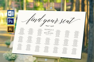Wedding seating chart SHR168