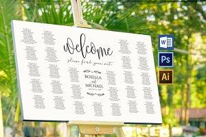 Wedding seating chart Wpc169
