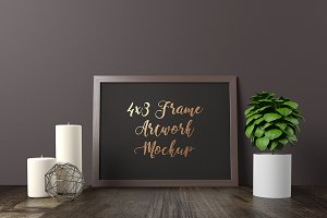 4x3 Frame Artwork Mockup - Dark 5