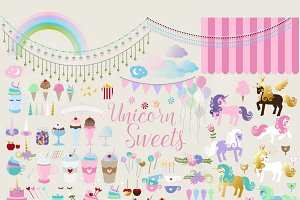 Unicorn Sweets clipart
