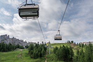 Cable car in the Dolomites