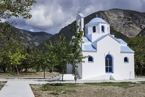Typical Greek church