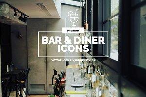 Premium »Bar & Diner« Icons