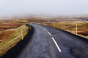 Lonely Road into the Fog