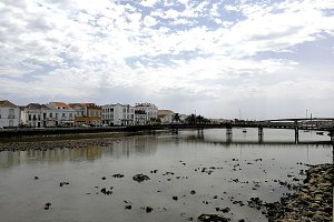 Gilao river in Tavira, Portugal
