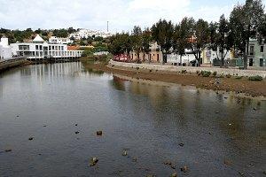 Gilao river in Tavira