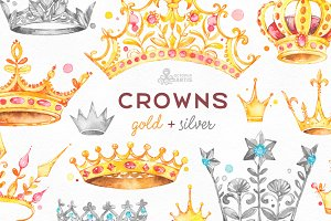 Crowns. Gold & Silver.