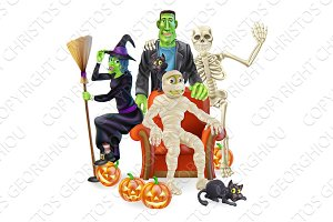 Halloween party group